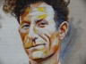 Steve Eichenberger painting of Lyle Lovett, detail