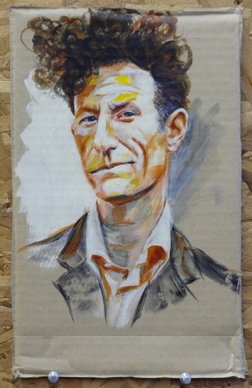 Steve Eichenberger acrylic painting of Lyle Lovett