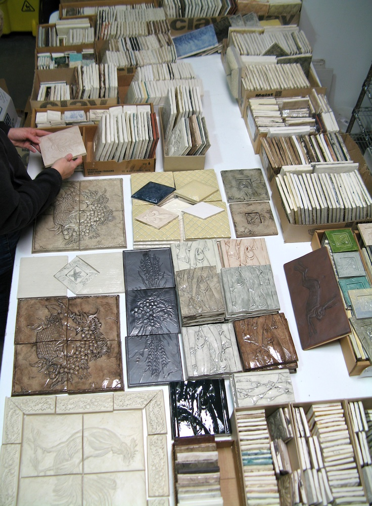 tiles laid out for studio sale
