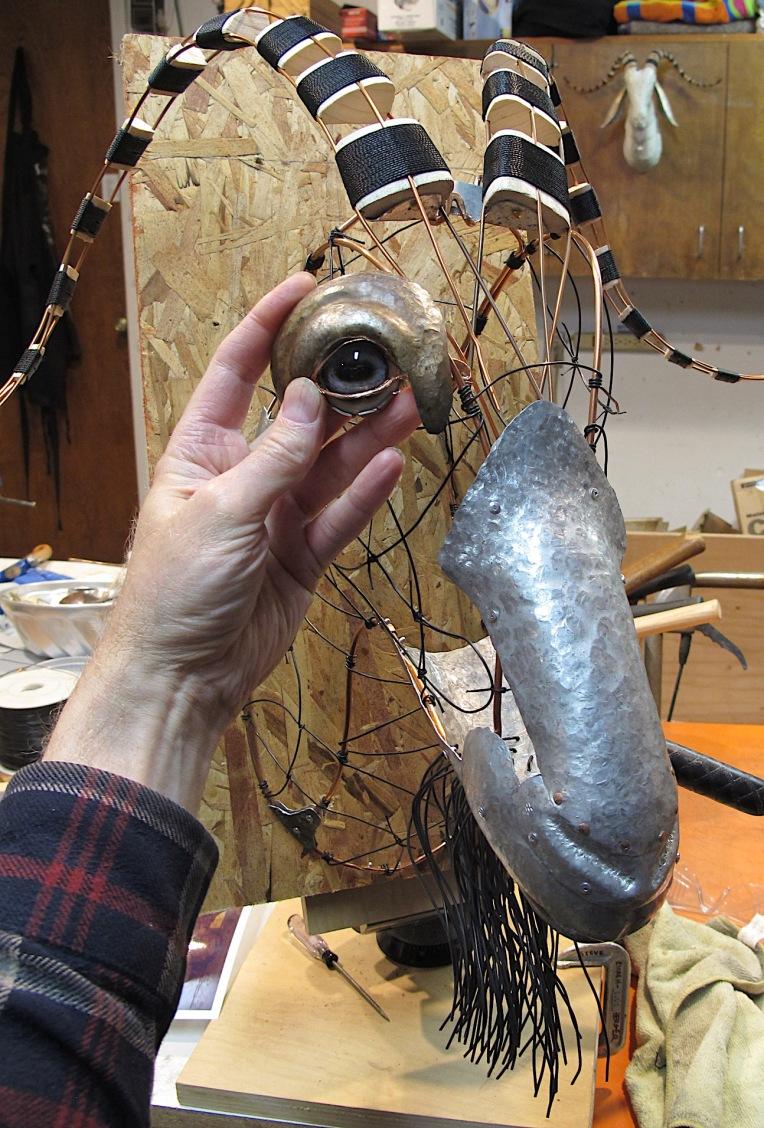 goat in process, Steve Eichenberger artist