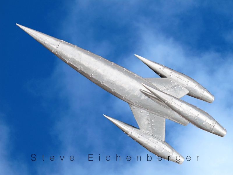 rocket sculpture Steve Eichenberger