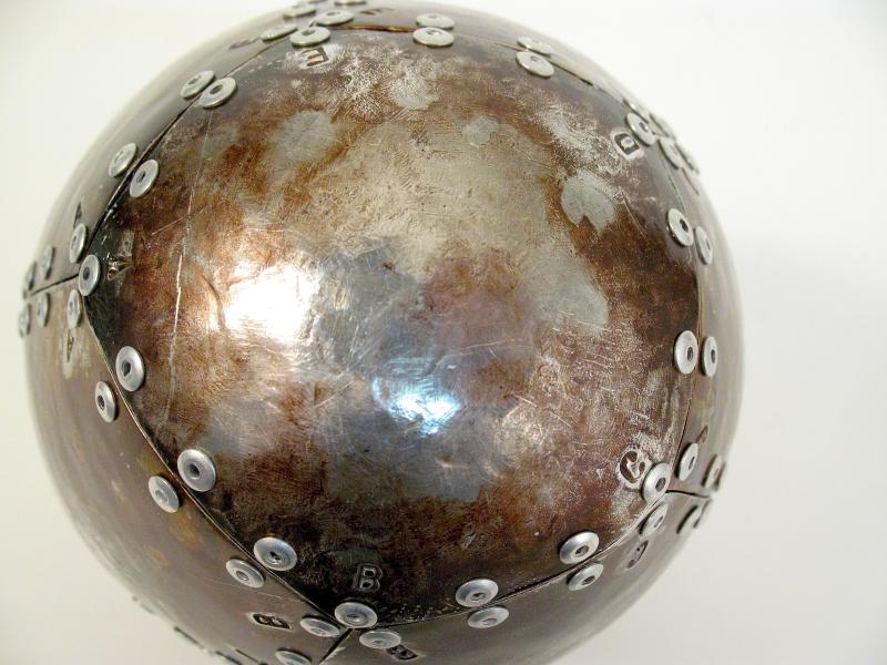 Steve Eichenberger aluminum egg sculpture